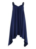 Boutique Moschino Silk Crêpe Asymmetric Dress - blue