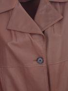 Desa 1972 Lux Plonge Leather Trench - Cuoio