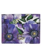 Dolce & Gabbana Floral Printed Card Holder - violet