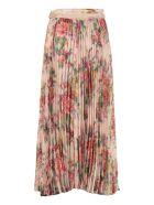 Zimmermann Printed Pleated Skirt - Pink