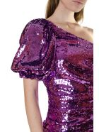 For Love & Lemons One-shoulder Dress Covered With Sequins - Purple