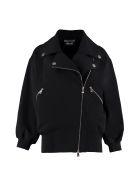 Boutique Moschino Biker-style Sweatshirt - black