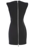 Dsquared2 Dress W/s Arwen Back Zip Stretch Worsted Wool - Black