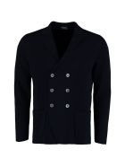 Drumohr Double-breasted Jersey Jacket - blue