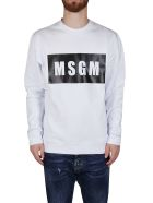 MSGM White Cotton Sweatshirt - White
