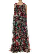 Dolce & Gabbana Embellished Leopard Print Chiffon Long Dress - Leopard multicolor