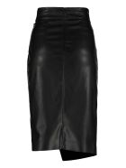 Pinko Cagliare Faux Leather Skirt - black