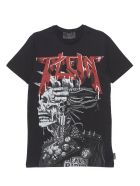 Philipp Plein 'logo Rock Plein Punk' T-shirt - Black