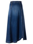 Philosophy di Lorenzo Serafini Flared Midi Skirt - Denim