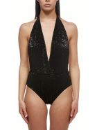 Oseree Glittered Swimsuit - Nero