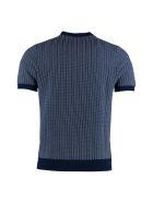 Drumohr Striped Knitted T-shirt - blue