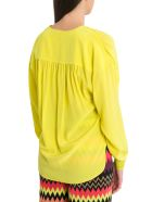M Missoni Deep V Neck Blouse - Giallo