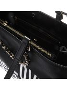Love Moschino Black Faux Leather Tote Bag With Logo - Black