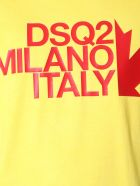 Dsquared2 Round Neck T-shirt - GIALLO