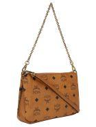 MCM Millie Medium Crossbody Bag - Cognac