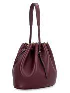 Jil Sander Mini Leather Bucket-bag - Red-purple or grape