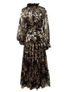 Zimmermann Ladybeetle Swing Long Dress - Black Mystic Eye