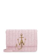 J.W. Anderson Anchor Logo Leather Shoulder Bag - Pink