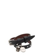 Alexander McQueen Double Wrap Bracelet With Studs And Skull - Nero