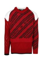 Givenchy Diagonal Logo Sweater - Red