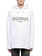 Balmain Logo Hoodie - Bianco nero