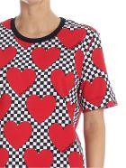 Love Moschino Hearts Tee - Rosso