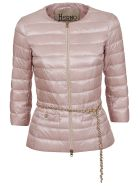 Herno Cropped Sleeve Down Jacket - Candy