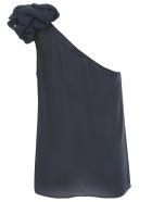 Emporio Armani Top W/s Georgette W/knot - Blu