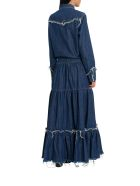 Alanui Hollywood Denim Long Dress - Blu