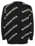 Balenciaga Logo Sweater - Black/white