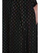 L'Autre Chose Metal Multicolor Lurex Long Skirt - black