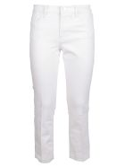 Frame Le High Straight Released Hem Jeans - Blanc Blanc