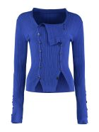 Jacquemus Ribbed Pullover With Buttons - blue
