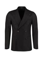 Tagliatore Wool Blend Double-breasted Jacket - black