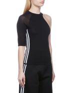 Adidas Originals One Shoulder Knitted Top - Nero bianco