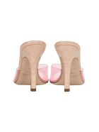 Paris Texas Croc-effect Leather And Pvc Sandals - POWDER