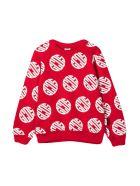 GCDS Mini Red Sweatshirt Teen - Rosso