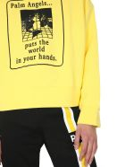 Palm Angels Round Neck Sweatshirt - GIALLO