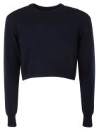 Chloé Cropped Sweater - Evening blue