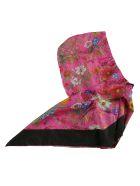 Gucci Floral Print Hood - fuchsia