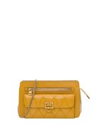 Givenchy Pocket Matelassé Leather Bag - Oro
