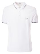 Fay Embroidered Logo Polo Shirt - White