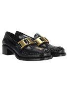 Prada Brushed Leather Loafers - BLACK