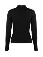Michael Kors Collection Turtleneck Merino Wool Sweater - Black