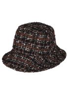 Dolce & Gabbana Black And Brown Cotton Blend Bucket Hat - Multicolor
