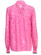 N.21 Pointed Neck Regular Shirt L/s - Fuxia
