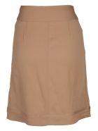 self-portrait Buttoned Skirt - Camel