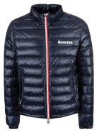 Moncler Chest Logo Padded Jacket - Dark Blue