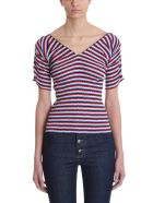 Sonia Rykiel Multicoloured Striped Cotton T-shirt - red