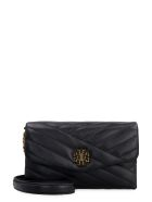 Tory Burch Kira Quilted Leather Clutch - black